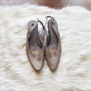 Vintage Lavender Slingbacks- leather